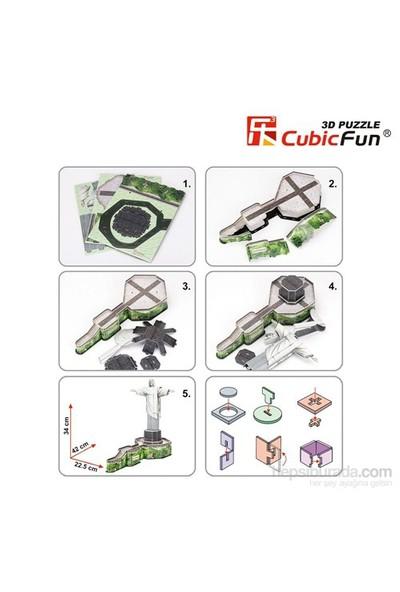 Cubic Fun 3D 22 Parça Kurtarıcı İsa Puzzle (Brezilya)