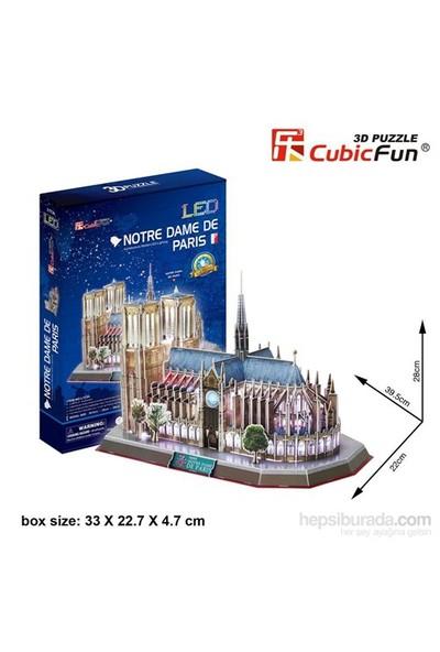 Cubic Fun 3D 149 Parça Led Puzzle Notre Dame De Paris (Ledli)