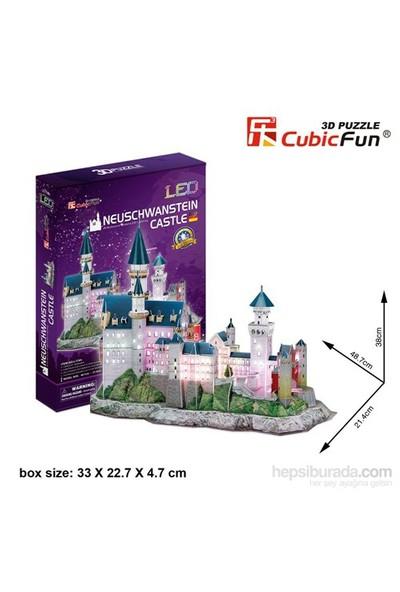 Cubic Fun 128 Parça Neuschwanstein Şatosu Puzle (Led Işıklı)