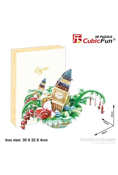 Cubic Fun 3D 74 Parça Puzzle Cityscape - London