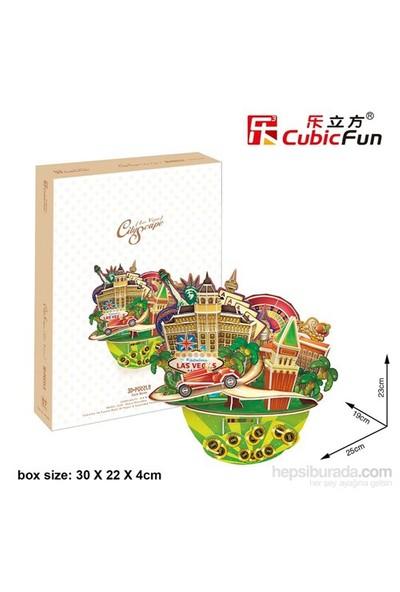 Cubic Fun 3D 64 Parça Puzzle Cityscape - Las Vegas
