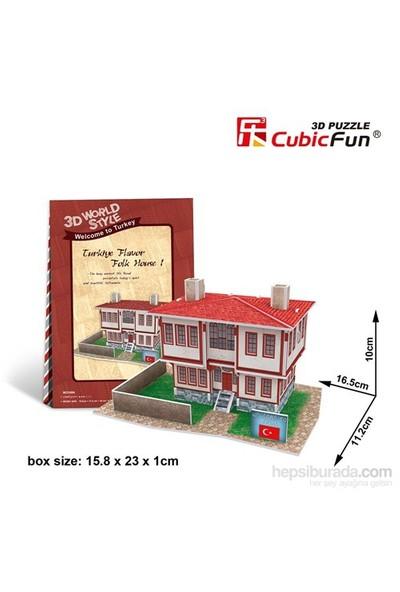 Cubic Fun 3D Türk Halk Evi 1 Karton Maket (26 Parça)