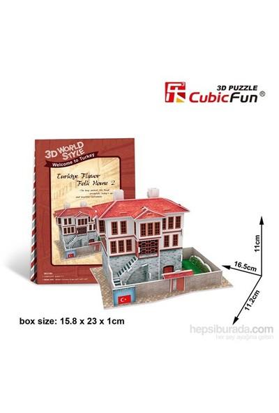 Cubic Fun 3 Boyutlu Tarihi Türk Evi Maket (18 Parça)