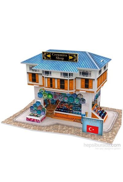 Cubic Fun Türk Seramik Mağazası (3 Boyutlu 25 Parça Puzzle)