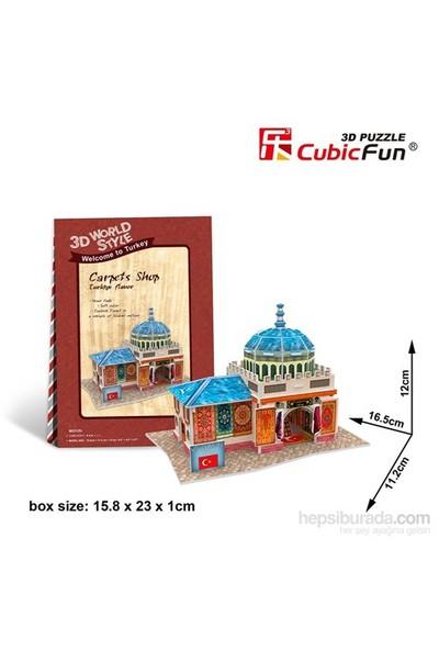 Cubic Fun 3D Türk Halı Mağazası Puzzle/Maket (26 Parça)