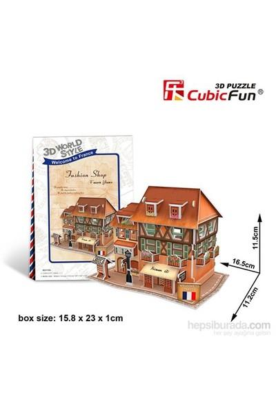 Cubic Fun 3D Fransız Mode Dükkanı Maket (31 Parça)