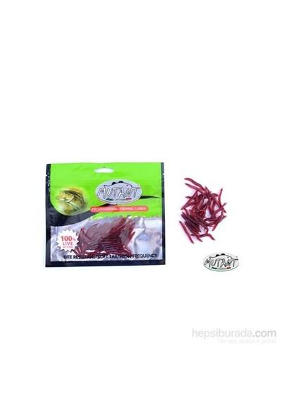 Mutant 3510 - 02 Ozmo Plastik Solucan Suni Yem 3,8 Cm 30 Lu Paket