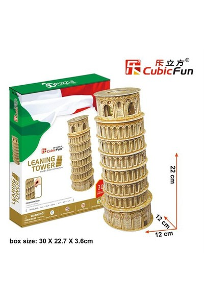 Cubic Fun 3D Puzzle Mc053h Pisa Kulesi - İtalya