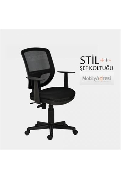 Büromotto Jazz Ofis , Çalışma ve Bilgisayar Sandalyesi, Personel koltuğu - Siyah