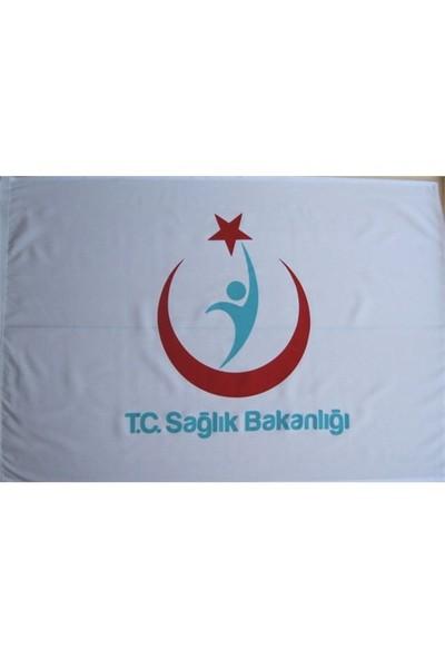 Sağlık Bakanlığı (Eski Logolu) Logolu Direk Bayrağı 70X105cm