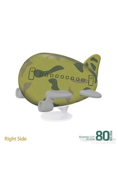 Pintoo Kamuflaj - 80 Parça 3D Uçak Puzzle