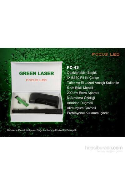 Focus-Fc.43 200Mw Profosyonel Şarjlı Yeşil Lazer