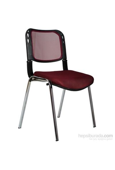 Bürocci Fileli Kromajlı Form Sandalye 2016P0547