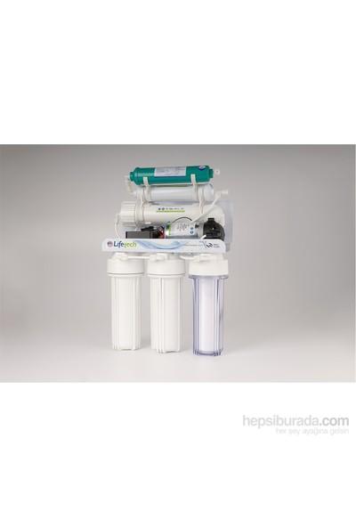 Lifetech 6 Aşamalı Alkali-Pompalı Arıtma Cihazı+Yedek Ön Filtre Seti+Kireç Önleyici Filtre