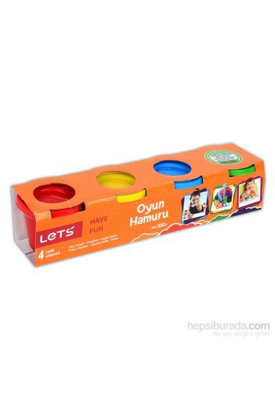 Lets Oyun Hamuru 4 Renk Kucuk Boy L8240