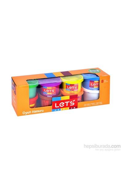 Lets Oyun Hamuru 8 Renk 800 Gr L8348