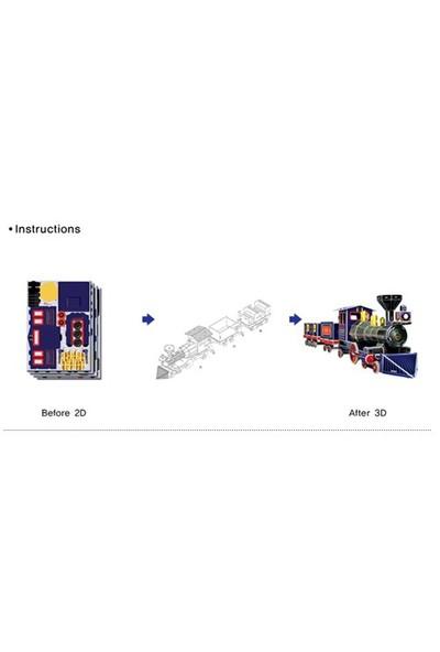 Scholas Puzzle Maket Interesting Grand Park Train (3 Boyutlu)