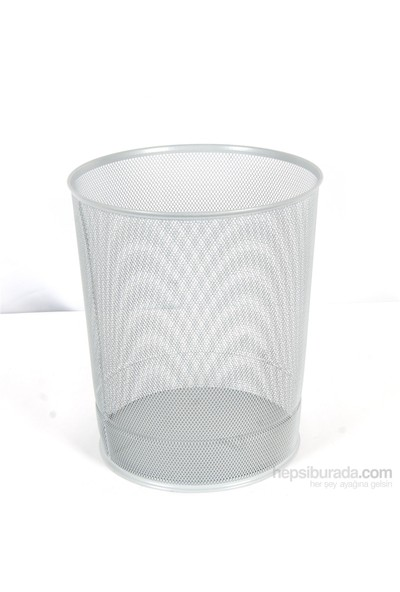 Globox Delikli Çöp Kovası Beyaz
