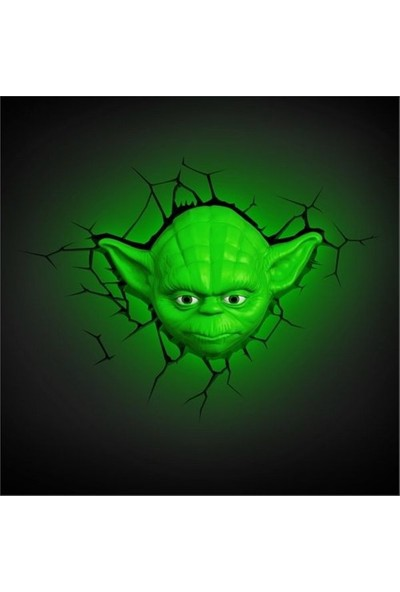 3D Light Fx Star Wars Yoda Head Duvar Lambası
