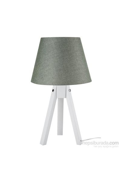 Modelight Trıpod Abajur Beyaz Ayak / Yeşil Şapka