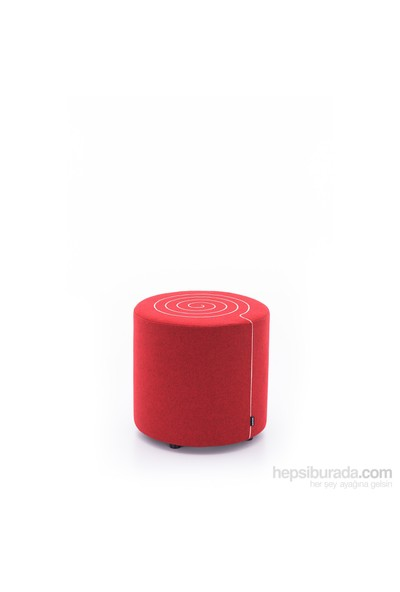 Ersa Mobilya Ersa Scroll Puf - Kırmızı