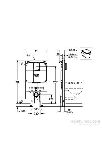 Grohe Rapid SL Gömme Rezervuar Alçıpan Tipi İnce 9,5 cm - 38994000