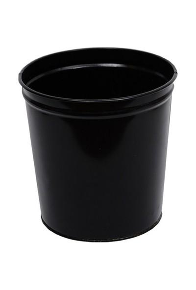 Monkey Metal Silindir Çöp Kovası (CK005) Siyah