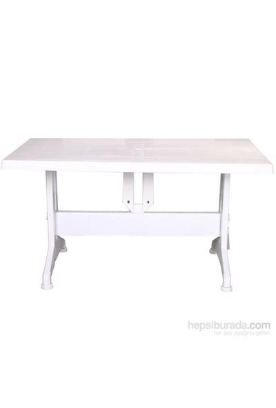 Star Salon Katlanır Masa Vıdalı Beyaz ( 80*140 )