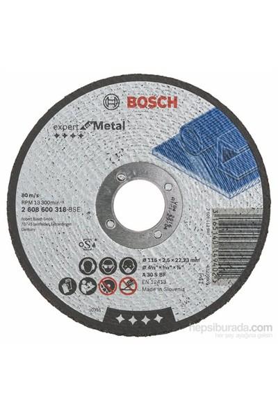 Bosch - Expert Serisi Metal İçin Düz Kesme Diski (Taş) - A 30 S Bf, 115 Mm, 2,5 Mm