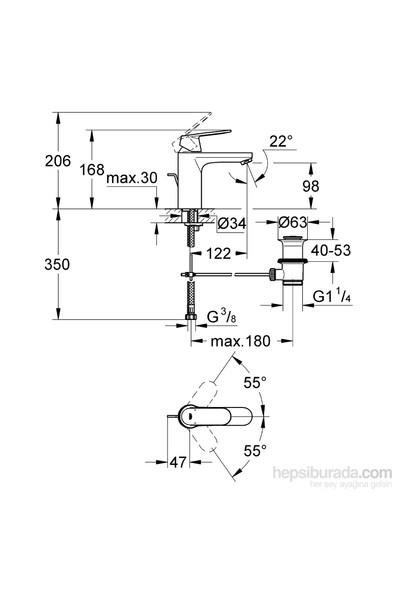 Grohe Eurocosmo Tek Kumandalı Lavabo Bataryası - 23325000