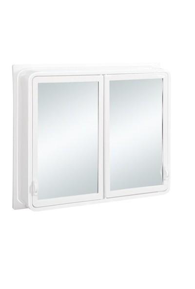 Çelik Ayna CLK144 Büyük 2 Kapaklı Banyo Dolabı
