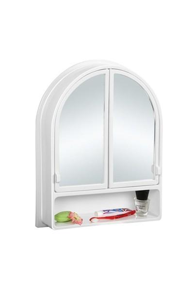 Çelik Ayna CLK146 2 Kapaklı Kubbeli Banyo Dolabı