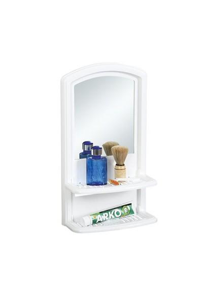 Çelik Ayna CLK227 Çift Etejerli Lavabo Aynası