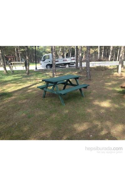 Garden 8 Kişilik Piknik Masası Yeşil