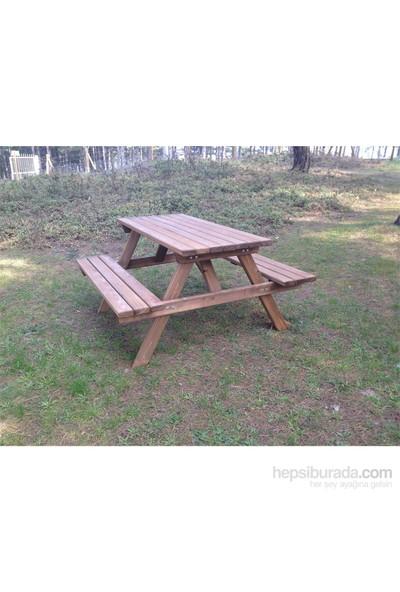 Garden 6 Kişilik Piknik Masası Kahverengi