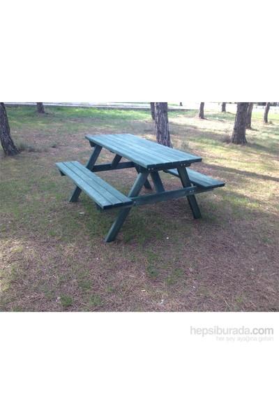 Garden 6 Kişilik Piknik Masası Yeşil