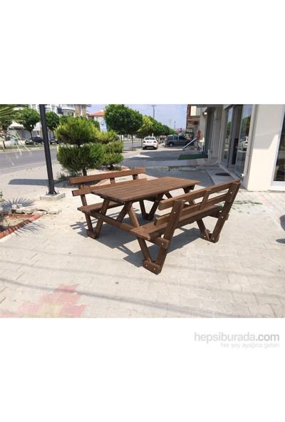 Garden Sırt Dayamalı Piknik Masası 6 Kişilik