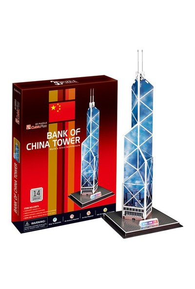 Cubic Fun Puzzle Bank Of China Tower (3 Boyutlu)