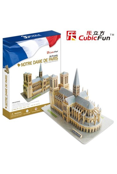 Cubic Fun Puzzle Notre Dame De Paris (3 Boyutlu)