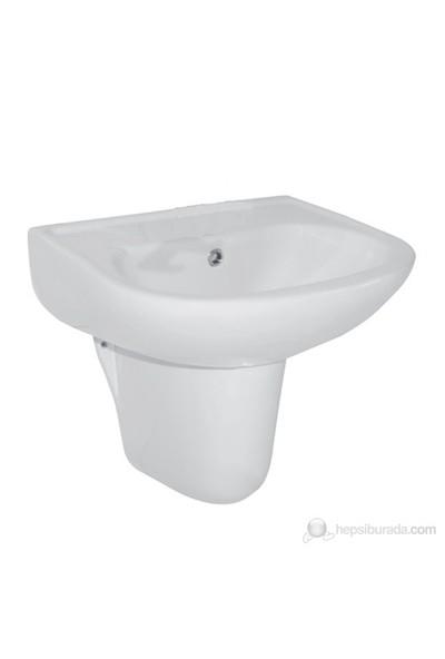 Ece Banyo Yarım Ayaklı Lavabo 45cm ( Batarya Deliksiz)