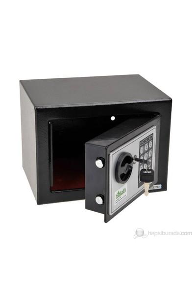 Balatlı Elektronik Tuşlu Para Kasası-Siyah BLT-PRK-17EF
