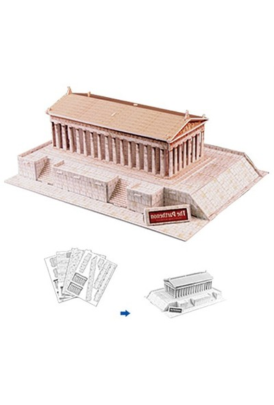 Cubic Fun Puzzle The Parthenon (3 Boyutlu)