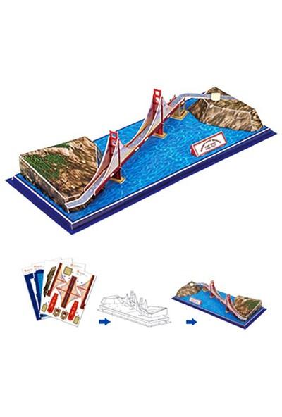 Cubic Fun Puzzle Golden Gate Köprüsü (3 Boyutlu)