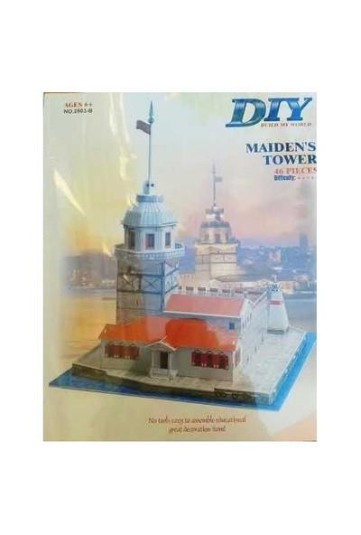 Dıy Kız Kulesi (3D Puzzle,46 Parça)