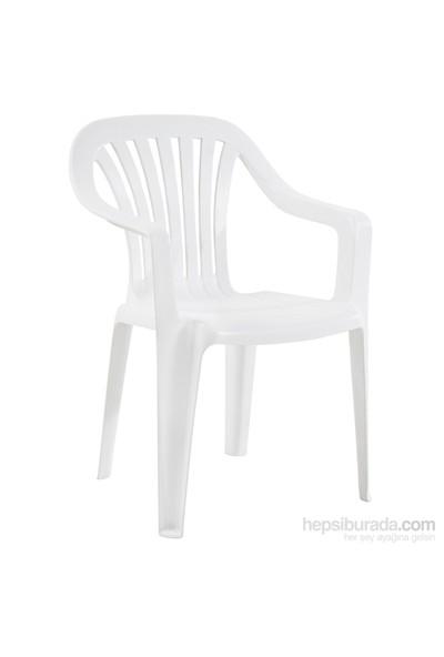 Papatya Tropik Koltuk Plastik Beyaz