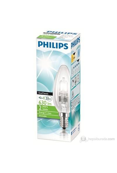 Philips Eko Klasik 42W Ampul E14 B35 CL Ampul