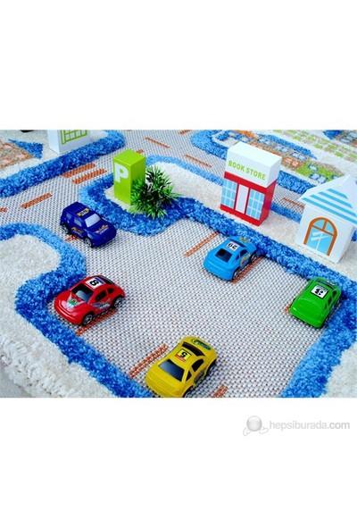 İvi Mavi Trafik Oyun Halısı