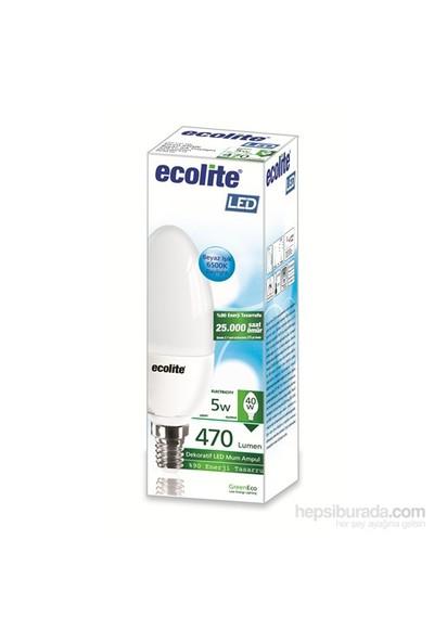 Ecolite Led Mum Ampul 5W E14 Beyaz Işık