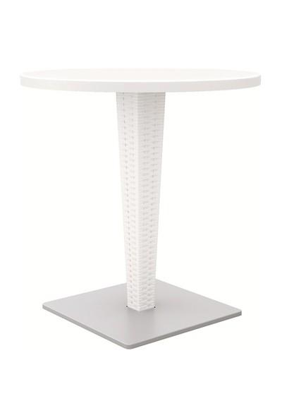 Siesta Riva 70 cm Yuvarlak Masa - Beyaz