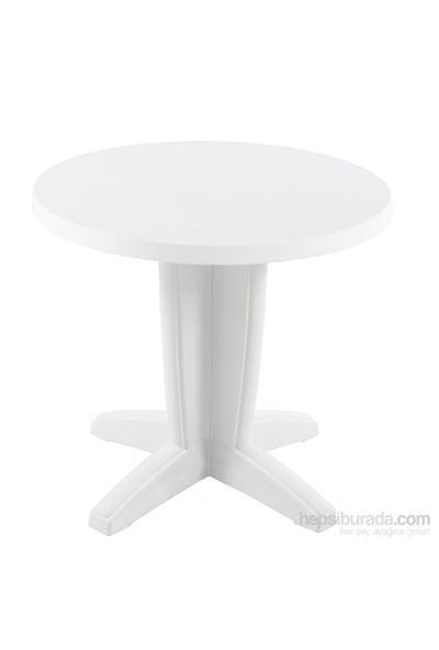 Papatya Bravo Yuvarlak Masa beyaz